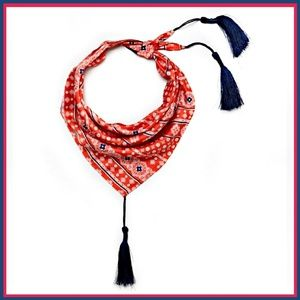 Accessories - Red Tassel Bandana
